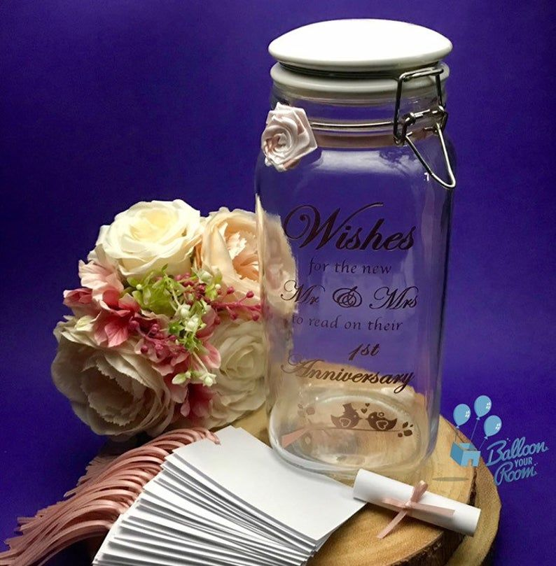 Wedding Wishes Jar Wishes For The Bride And Groom Wedding Etsy In 2020 Wishes For The Bride Wedding Wishes Traditional Wedding Guest Book