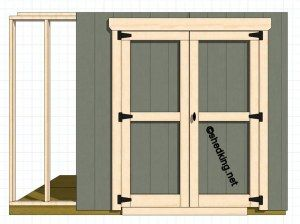 Double Shed Doors  Shed Door Design Ideas