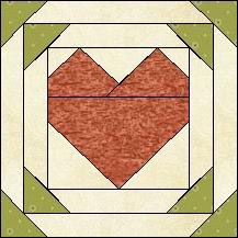Block of Day for April 19, 2015 - Pineapple Heart