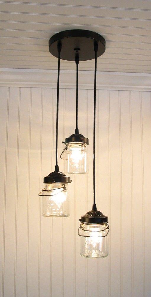 Canning Jar Lights Lamparas Creativas Mason Jar Lighting