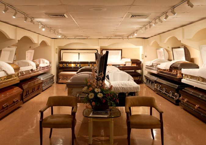 A Casket Showroom At The Lawrence H. Woodward Funeral Home In  Bedford Stuyvesant,