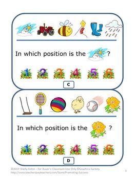 ordinal numbers task cards kindergarten math review games scoot prima r tipps mathe und schule. Black Bedroom Furniture Sets. Home Design Ideas