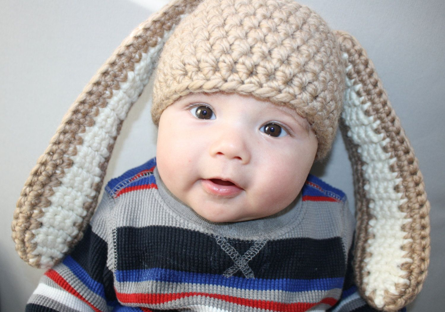 Funky Knit Baby Bunny Hat Pattern Embellishment - Easy Scarf ...