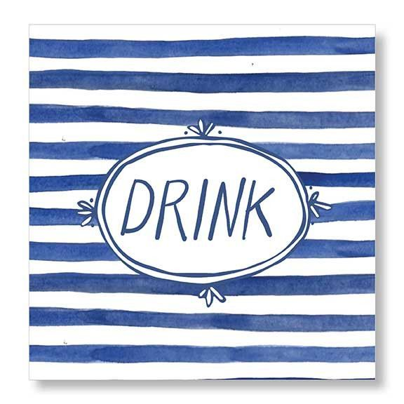 Beverage Napkin (20Ct) - Drink