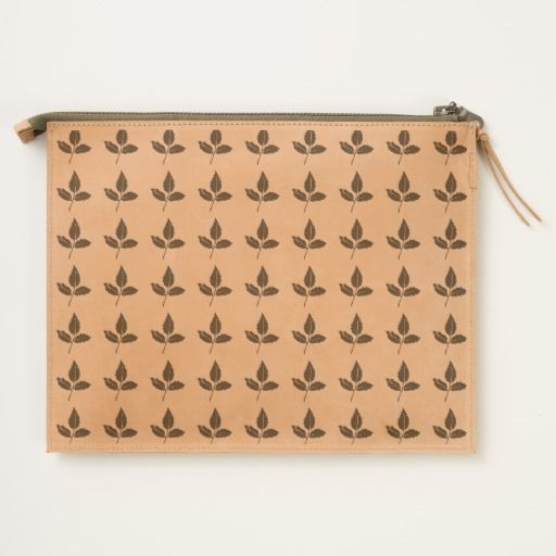 Leaf Leather Travel Pouch by JUSTART on Zazzle