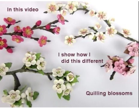 Quilled Tree Blossoms - by: Bridget's Creativity-Video https://www.youtube.com