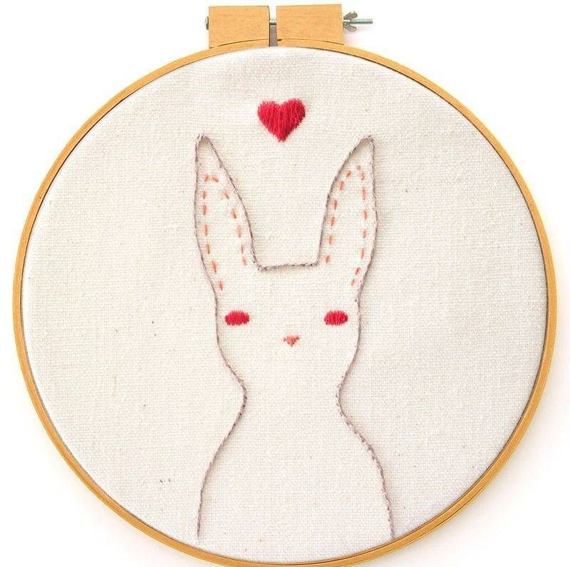 Rabbit Embroidery Pattern