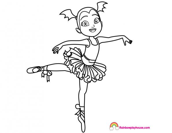 Vampirina Ballerina Coloring Page