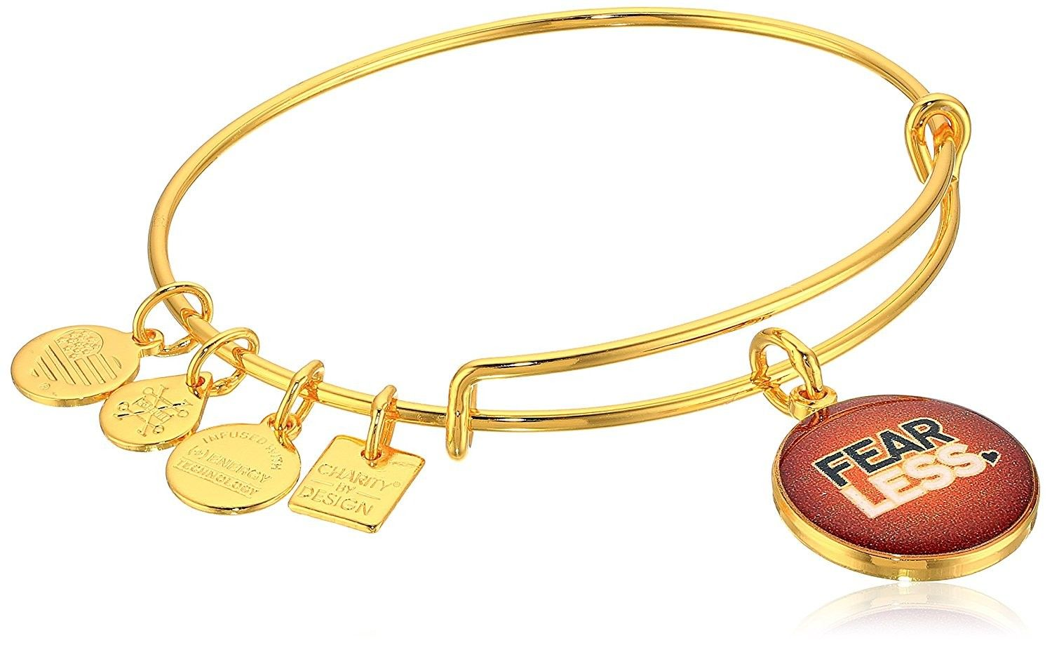 Womens charity by design fearless bangle yellow gold czeuwvb