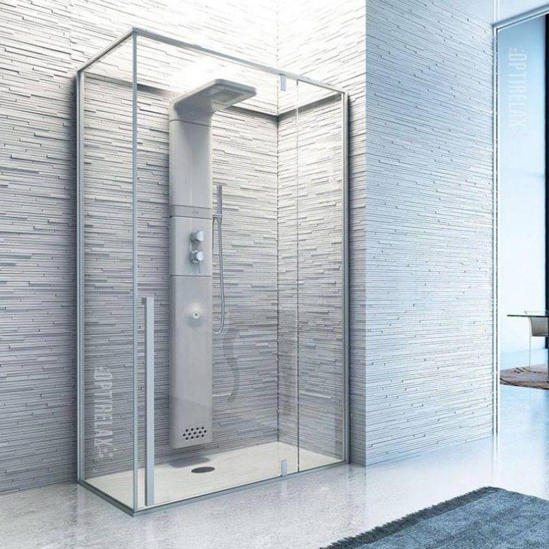 Luxus dampfdusche fino sauna pinterest badezimmer dampfdusche und bad - Holzwand fliesen ...