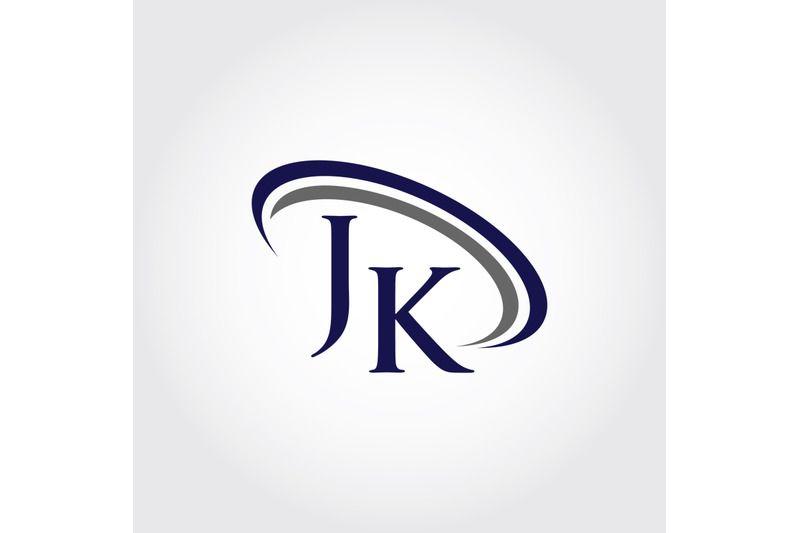 Monogram Jk Logo Design By Vectorseller Thehungryjpeg Com Logo Design Logos Business Card Inspiration