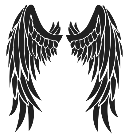 angel devil wings tattoo design free black tribal feather wing rh pinterest com devil wing tattoo devil wing tattoo