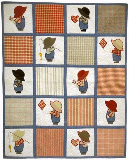Sun Bonnet Sam Baby Quilt Embroidery Project by Pat Williams