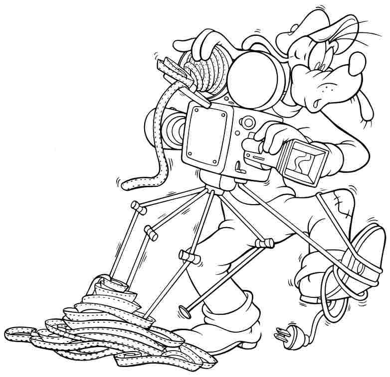 Free Printable Colouring Pages Cartoon Disney Goofy For Kids ...
