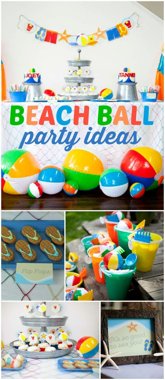 Beach Theme Party Decorating Ideas Part - 50: Kids Beach Theme Party Ideas