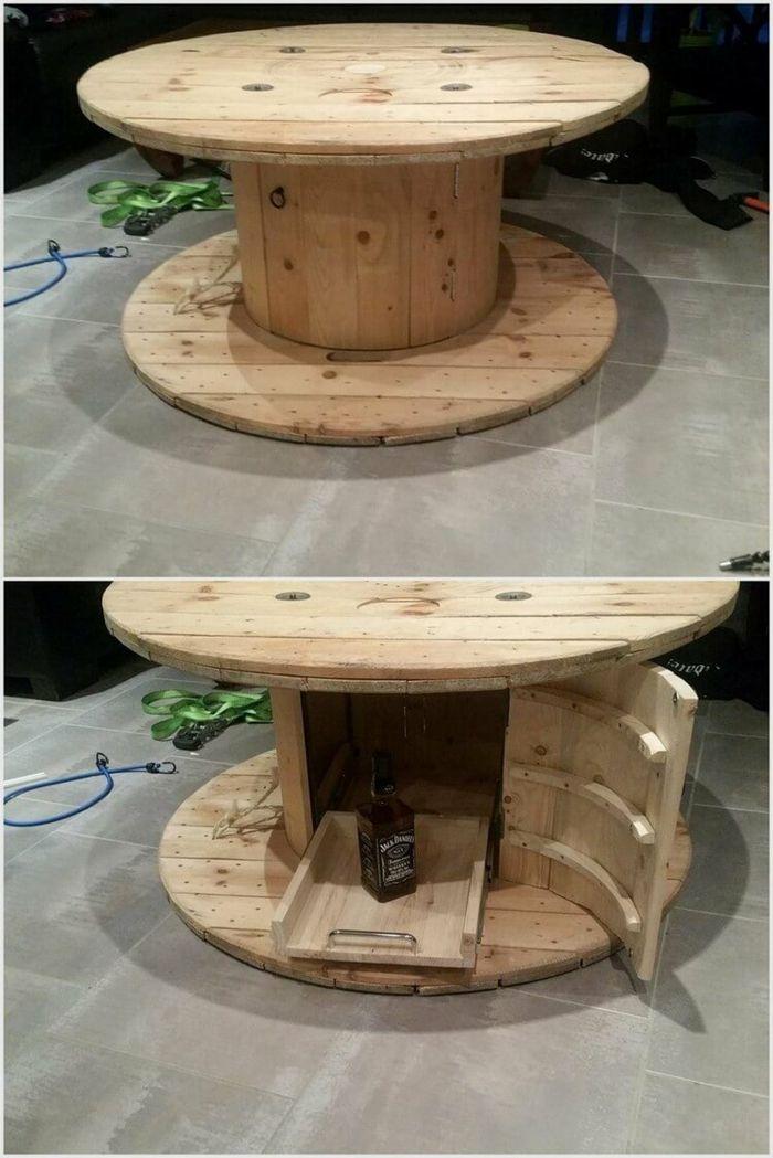 Idee Originale De Table De Touret Bois Sorede Table