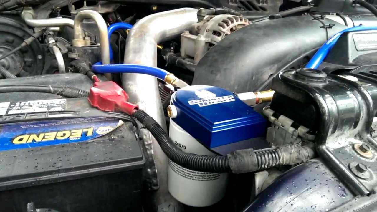 Howto Ford 60l Psd Sinister Coolant Filter Install 2003 6 0 Powerstroke Fuel Filters