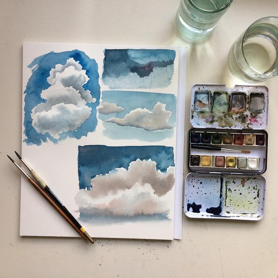 Aquarell Wolken Malen Lernen Auf Lonamisa De Dozenten Youdesignme
