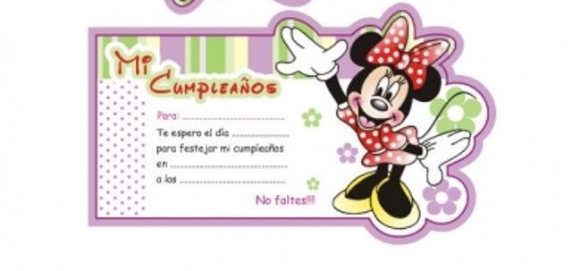 Tarjetas de cumpleaños para imprimir de Minnie Mouse Imagui Lugares para visitar Pinterest