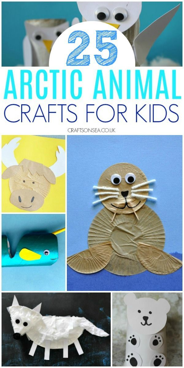 25 Easy and Fun Arctic Animal Crafts for Kids #animalcrafts arctic animal crafts for kids preschool #arcticanimals #preschool #craftsforkids #animalcrafts