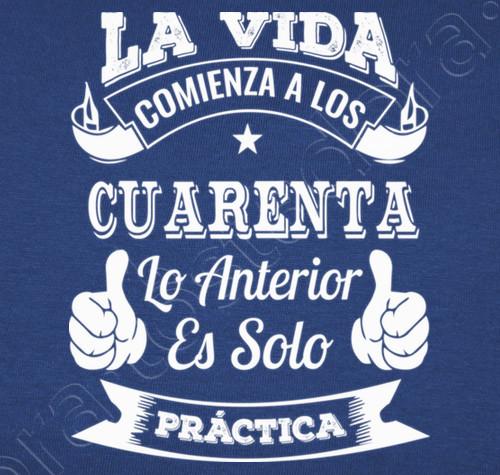 Camiseta 40 Años De Práctica Nº 1015652 Camisetas