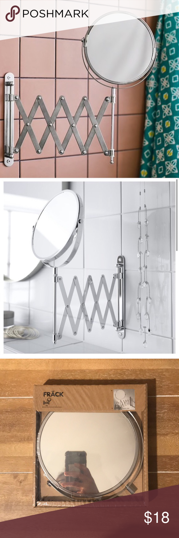 Wall Mounted Magnifying Mirror Ikea Frack Nwt In 2020 Wall