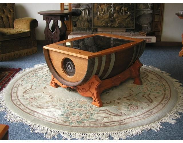 renovate your interior with a wine barrel coffee table | chimeneas