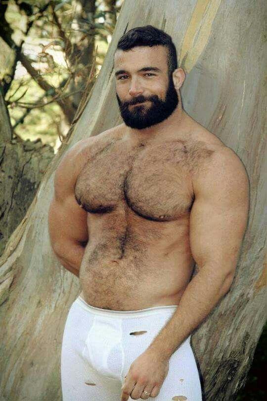 Justhairyguys: Hairy men muscle bear