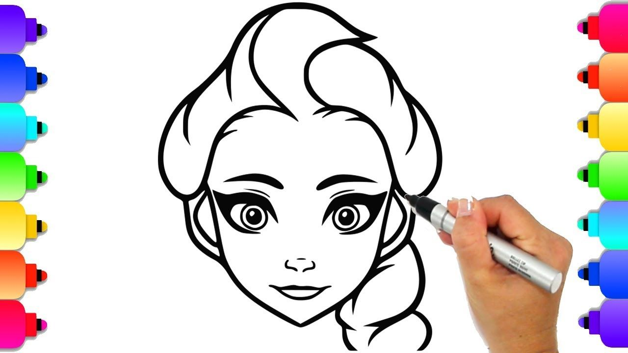 Coloring Elsa Frozen Disney Coloring Book Page How To Draw Elsa