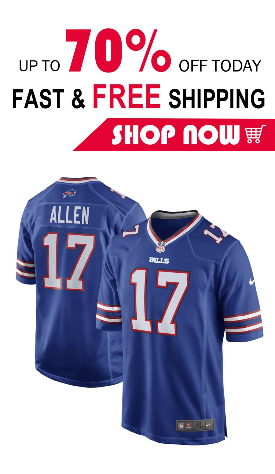 the latest c80a0 ebc25 mens Josh Allen Buffalo Bills football Game Jersey in 2019 ...