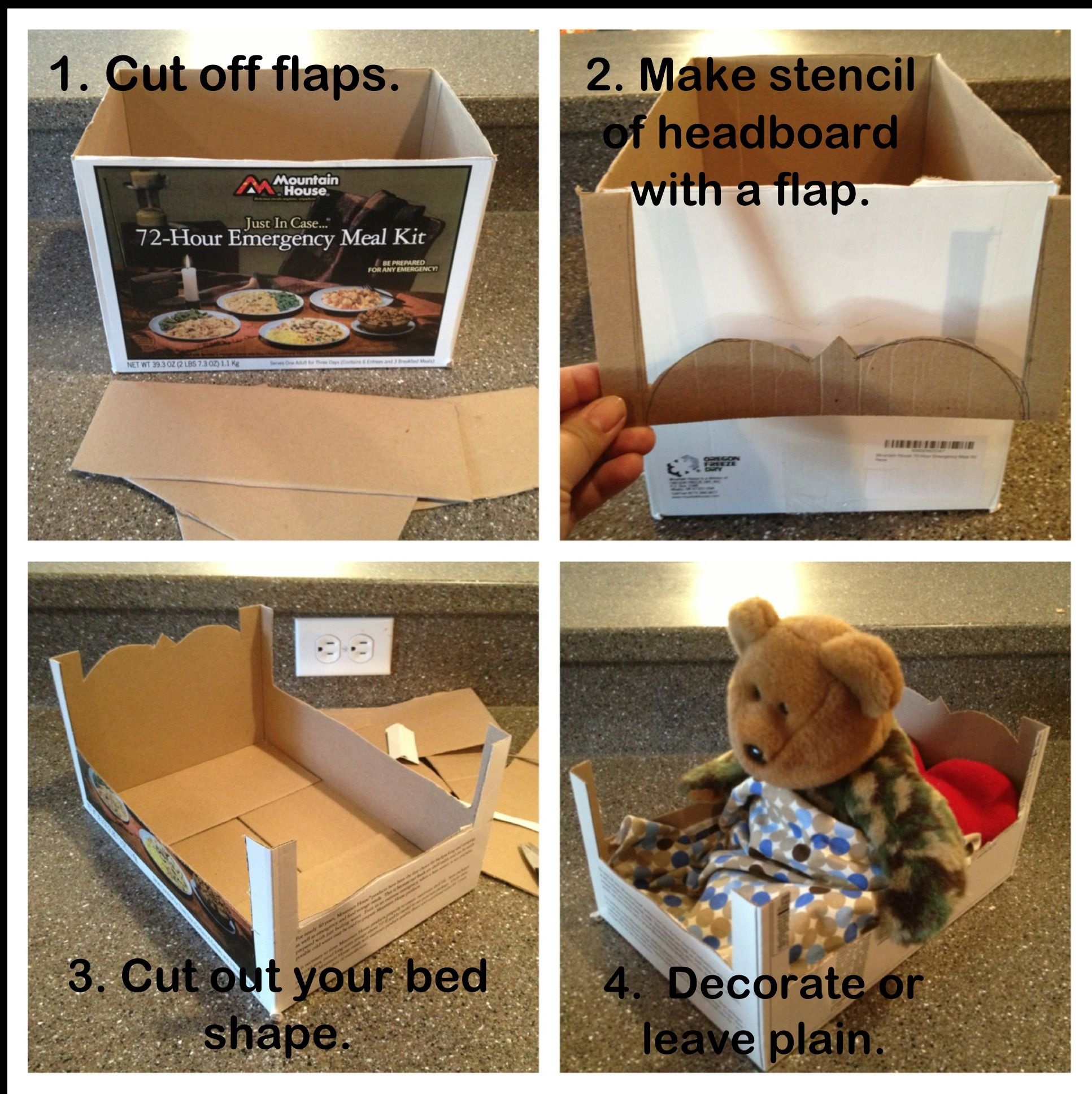 Cardboard Doll Bed Tutorial Super Easy Diy Doll Doll