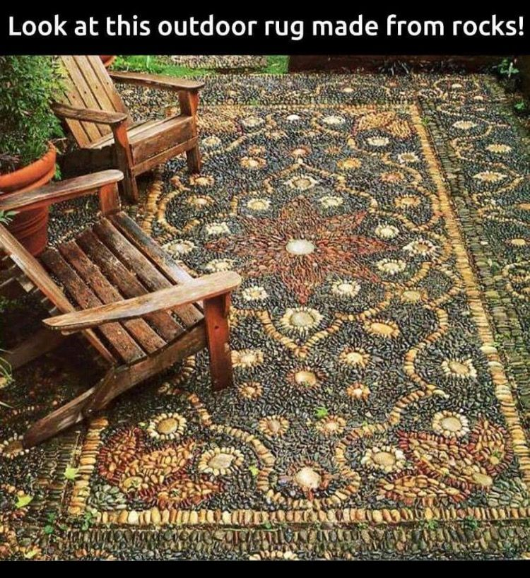 Rock rug for your yard