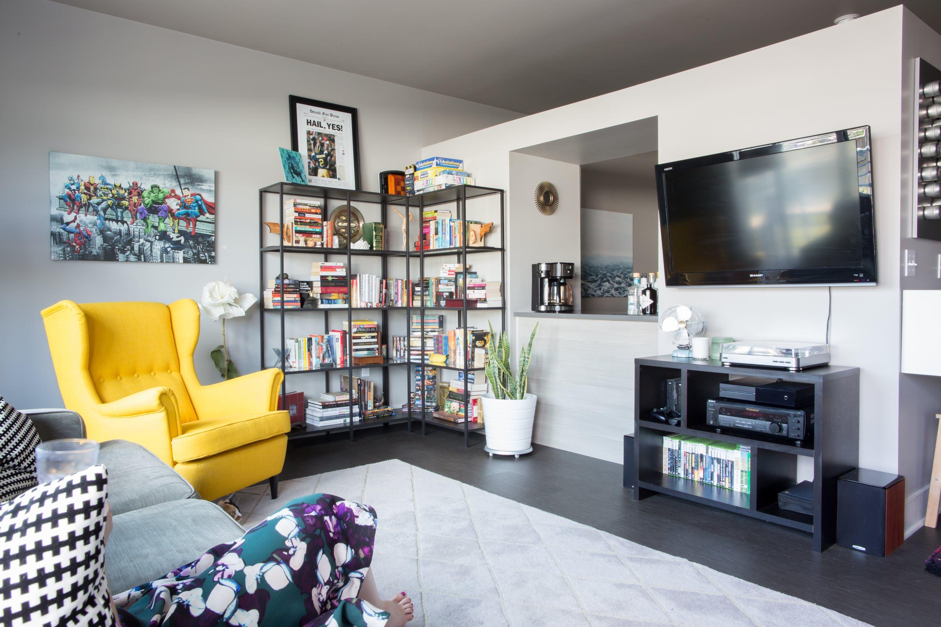 """A Cozy, """"Minimalist with Nerdy Flair"""" Studio Apartment ..."""