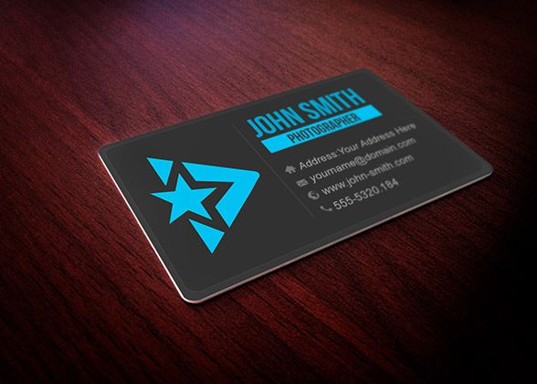 Creative Design Of This Free Business Card Mockup For Single Side - Single business card template