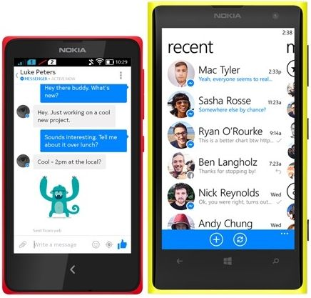 Facebook Messenger App Download XAP for Windows Phone