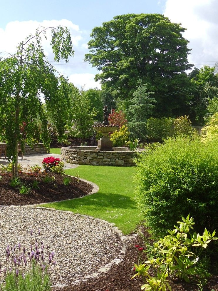 beautiful home gardens with fountains flowers grass trees plants