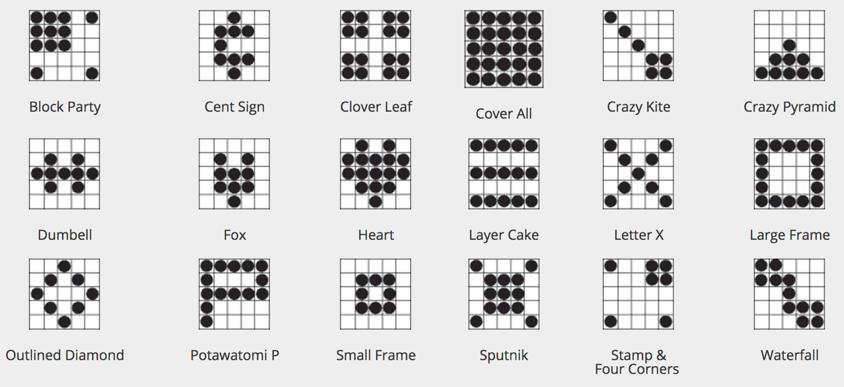 Bingo Game Patterns Bingo patterns, Senior fitness, At