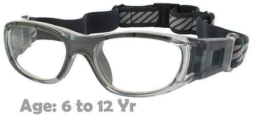 826d27e6d14a Kids Prescription Sports Goggles BL016 Grey Suitable for Ages 6 to 12 Years