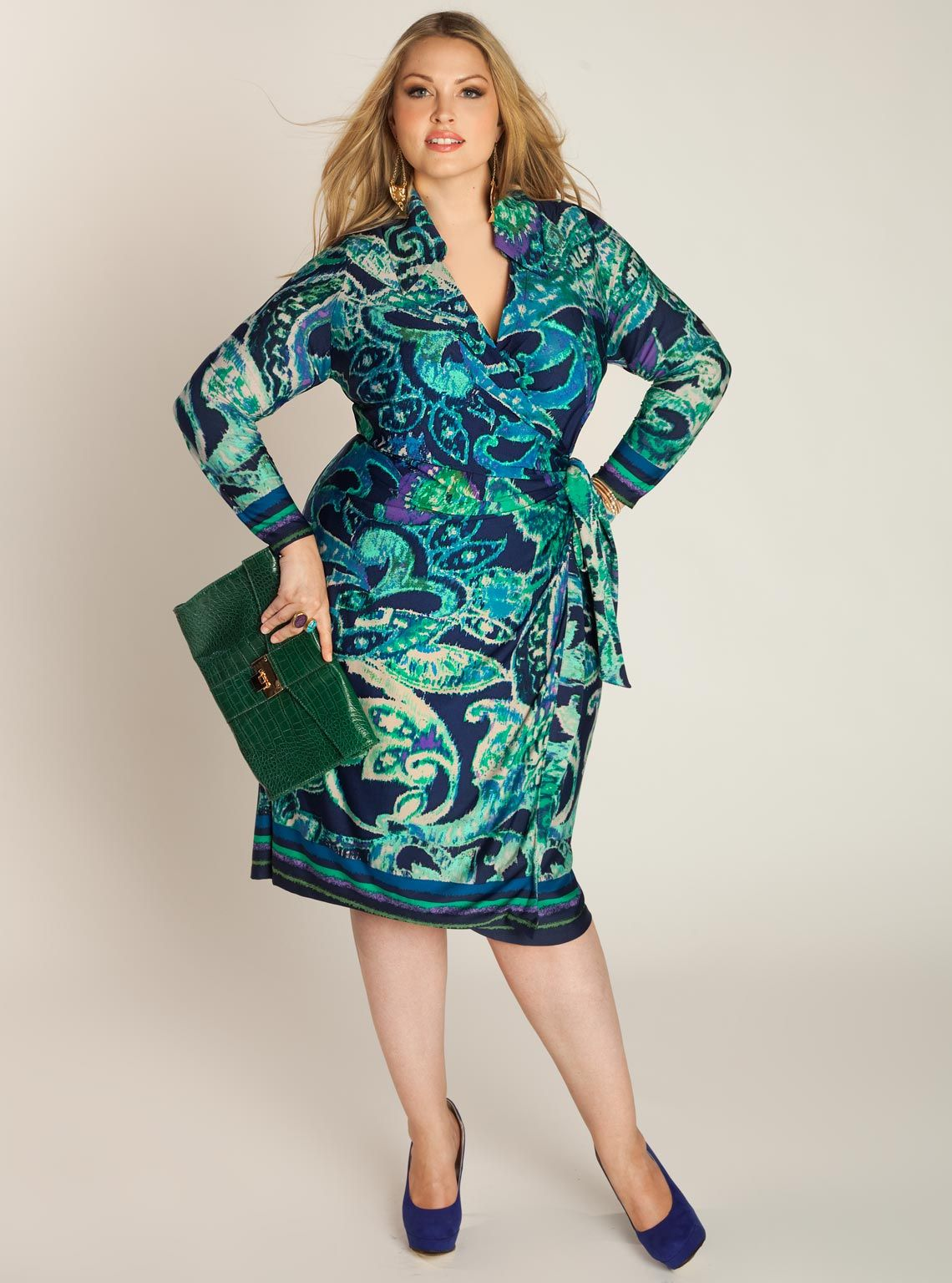 Enrica Plus Size Wrap Dress by IGIGI | Plus Size Dresses | Pinterest ...