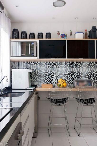 Decoracion De Una Cocina En Espacios Pequenos Cocinas De Casa Interior De Cocina Decoracion De Cocina