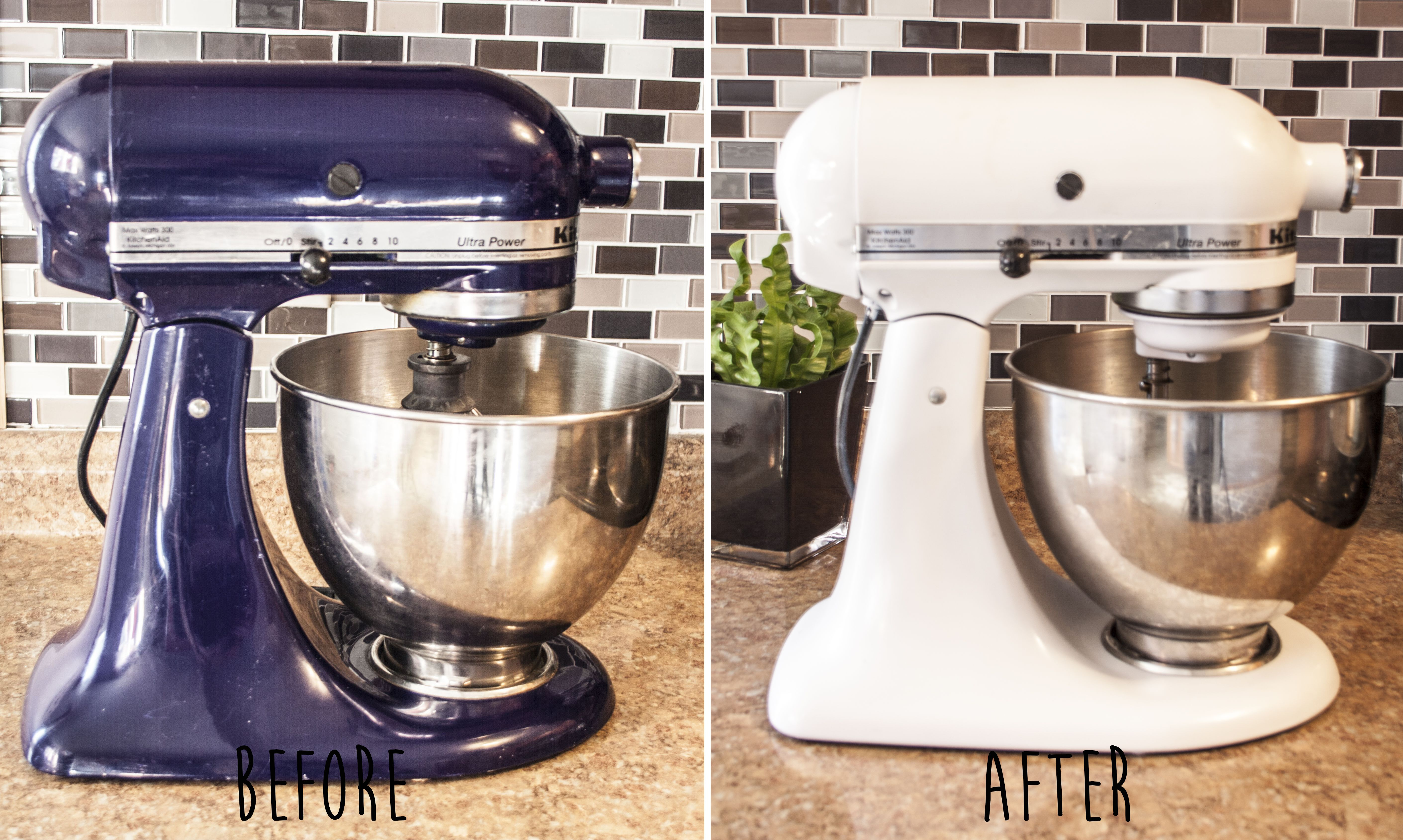See What We Used To Paint Our Kitchenaid Mixer Get Tips