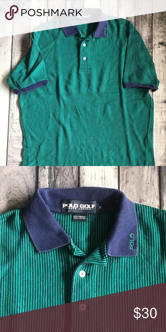 f6b864d7 Green Stripped Ralph Lauren Golf Polo - 100% cotton -embroidered ...