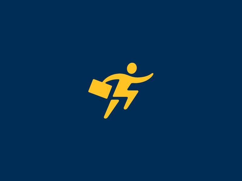 Fast as lightning with images logo design negative