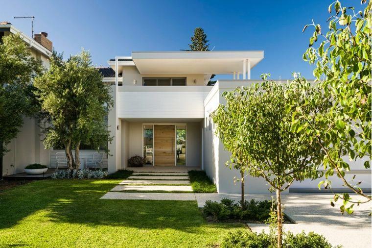 Aménagement extérieur maison  jardins du0027entrée modernes
