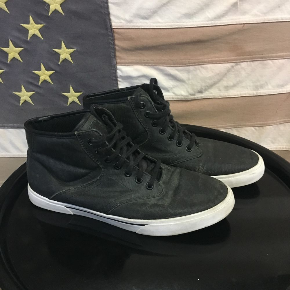 344efc161c127 Dylan Rieder Gravis Men's Sz 8 M Black Waxed Canvas Mid Skate Shoes ...