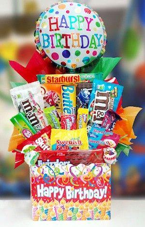 Birthday Bash Candy Basket Gifts Happy Birthday Pinterest