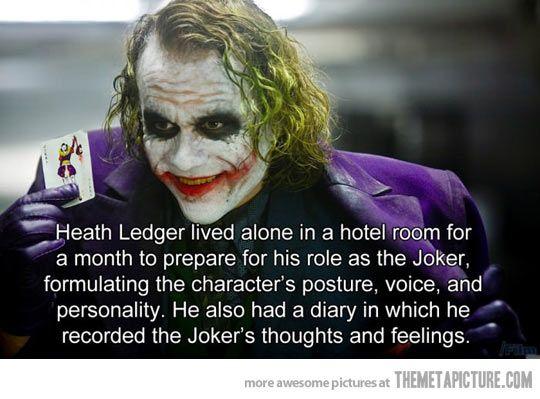 Heath Ledger mengisolasi diri sebelum berperan sebagai Joker