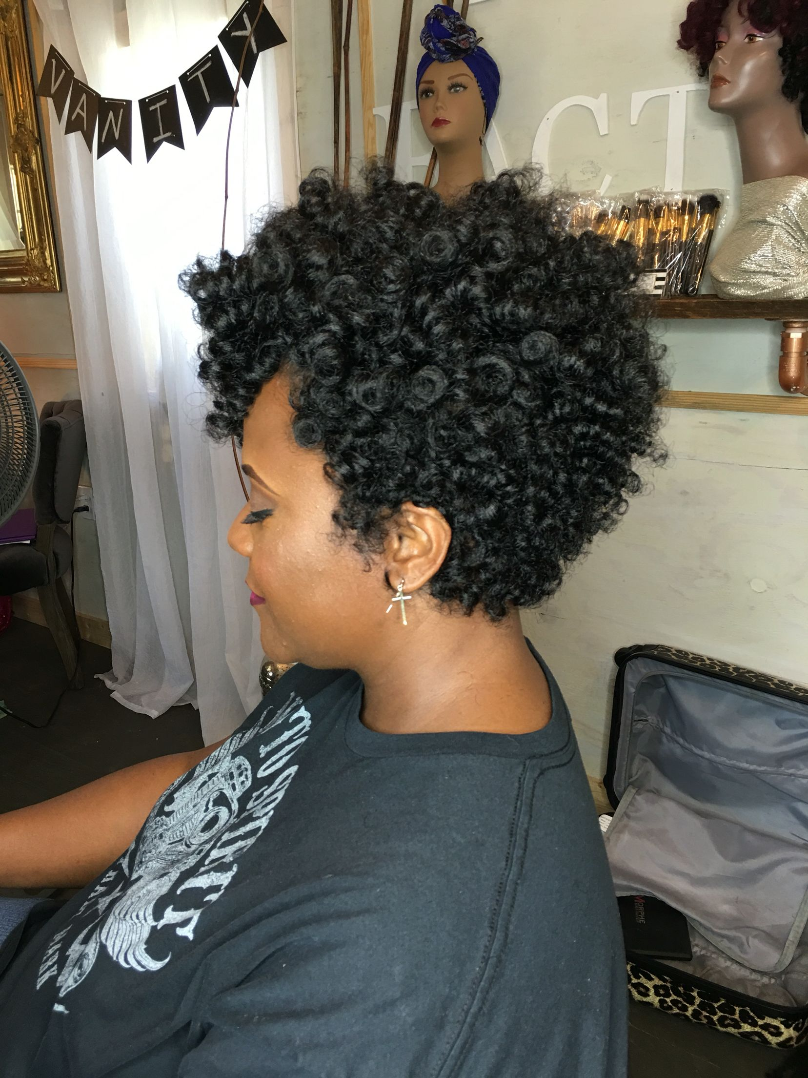 Natural hairstyles for short hair black women hair and tattoos - Find This Pin And More On Black Hairstyles