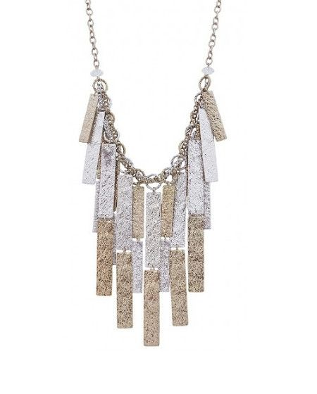 Carly Rae Metal Plate Necklace  $28
