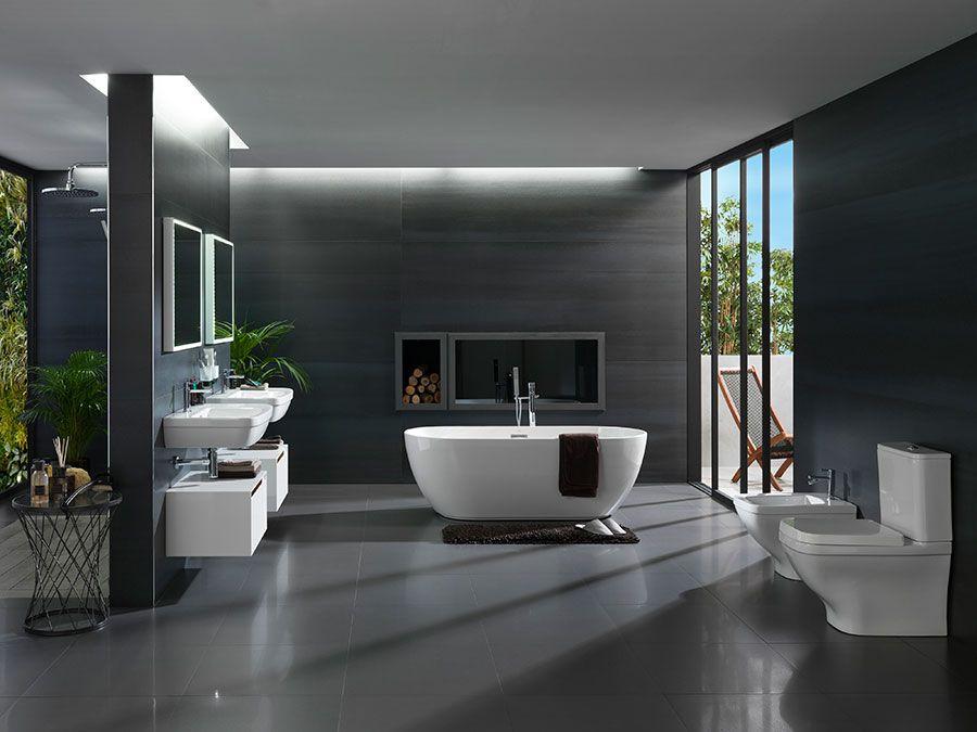 Baños amplios: cómo decorar baños modernos en los que el espacio no ...